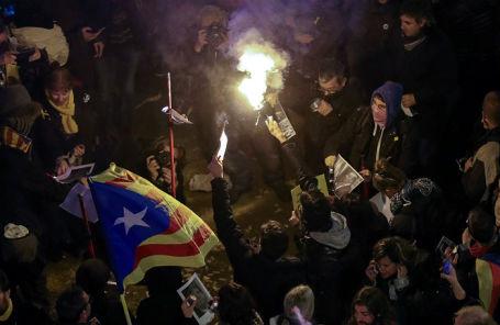Беспорядки в Барселоне, 23 марта 2018 года.