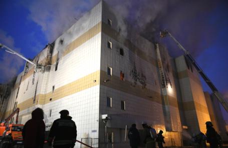 Во время ликвидации пожара в торгово-развлекательном центре «Зимняя вишня.