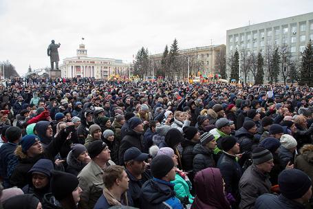 Акция в память о погибших при пожаре в торговом центре «Зимняя вишня» в Кемерове, 27 марта 2018.