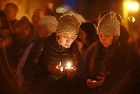 Акция в память о погибших при пожаре в торговом центре «Зимняя вишня».