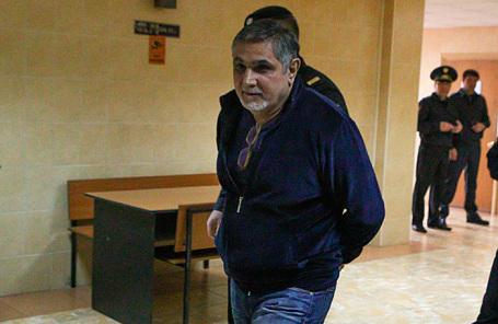 Обвиняемый в вымогательстве «вор в законе» по кличке Шакро Молодой.