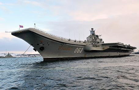 Российский авианесущий крейсер «Адмирал Кузнецов».