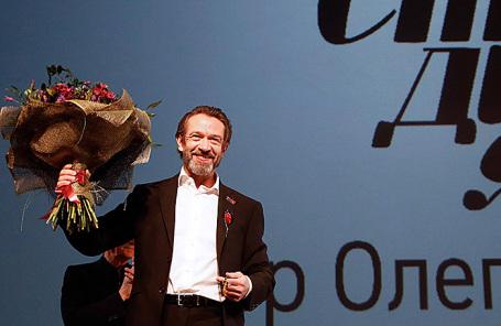 Актер Владимир Машков, назначенный художественным руководителем московского театра-студии «Табакерка», во время сбора труппы.