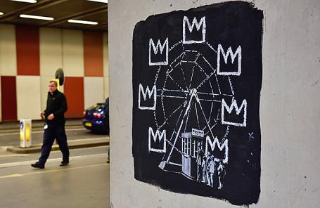 Граффити британского художника Бэнкси в Лондоне.