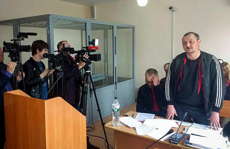 Капитан керченского судна «Норд» Владимир Горбенко в суде Херсона.