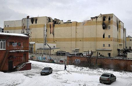 Торгово-развлекательный центр «Зимняя вишня» в Кемерово после пожара.