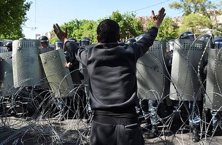 Акция протеста в Ереване.