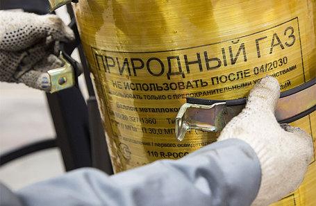 Газовый баллон для грузового автомобиля на заводе ОАО «КАМАЗ».