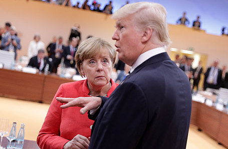 Дональд Трамп и Ангела Меркель.