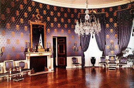 Голубая комната в Белом доме.