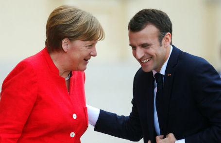 Канцлер ФРГ Ангела Меркель и президент Франции Эммануэль Макрон.