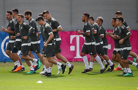 Игроки «Баварии» на тренировке.