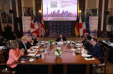 Встреча глав МИД G7 в Торонто, Канада.