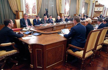 Заседание кабинета министров РФ.