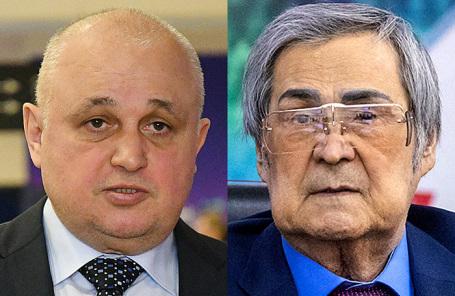 Сергей Цивилев и Аман Тулеев (справа).