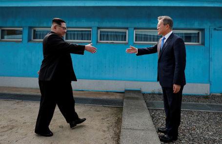 Ким Чен Ын и Мун Чжэ Ин.