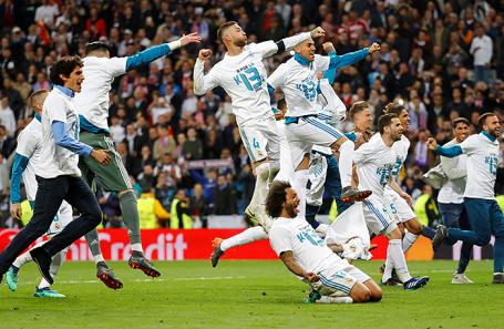 Игроки ФК «Реал Мадрид» после матча с «Баварией».