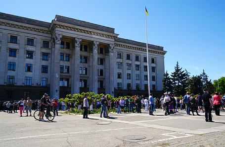 Акция в память о погибших 2 мая 2014 года в Одессе.