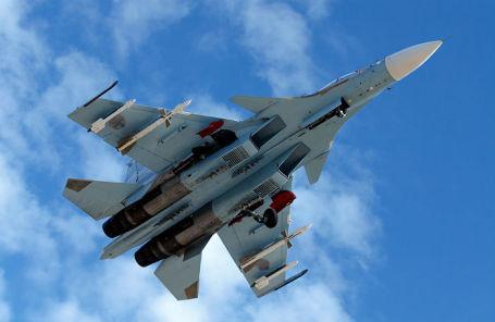 Истребитель-бомбардировщик Су-30СМ на авиабазе «Хмеймим».