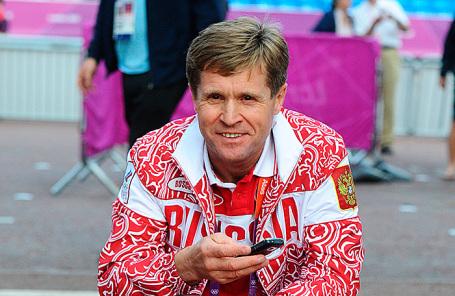 Тренер по спортивной ходьбе Виктор Чегин.
