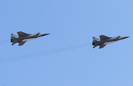 Пролет авиации в рамках репетиции воздушной части Парада Победы.