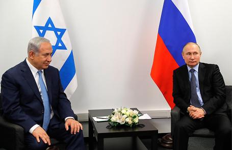 Премьер-министр Израиля Биньямин Нетаньяху и президент России Владимир Путин (слева направо).