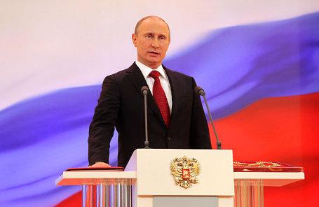 Избранный президент России Владимир Путин на церемонии инаугурации.