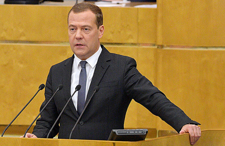 Исполняющий обязанности премьер-министра РФ Дмитрий Медведев.
