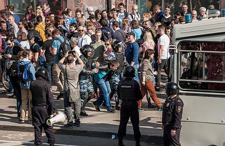 Протестная акция оппозиции в Москве.