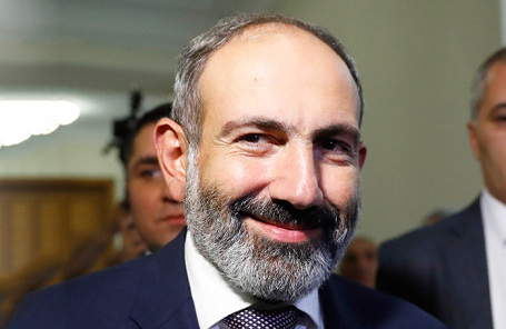Лидер оппозиционной партии «Гражданский договор» и фракции «Елк» (Исход) Никол Пашинян.
