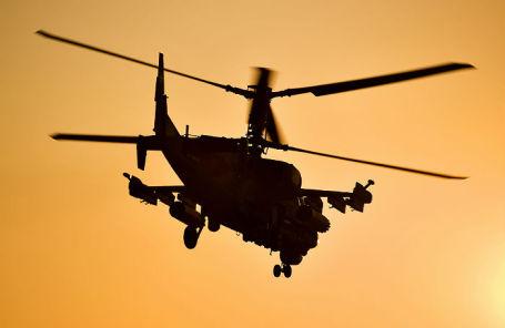 Боевой разведывательно-ударный вертолет Ка-52 «Аллигатор».