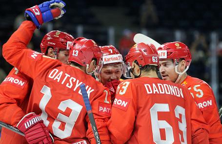 Игроки сборной России по хоккею.
