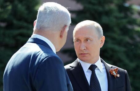 Премьер-министр Израиля Биньямин Нетаньяху и президент России Владимир Путин.