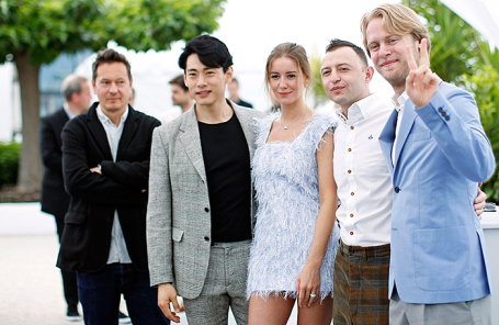 Съемочная группа фильма на Каннском кинофестивале.