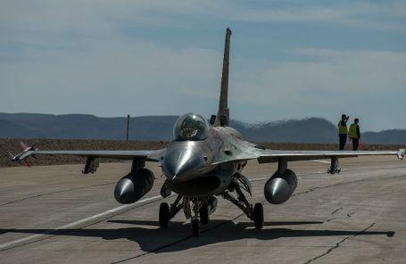 Истребитель F-16 израильских ВВС.