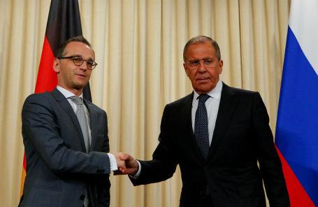 Глава МИД Германии Хайко Маас и министр иностранных дел России Сергей Лавров.