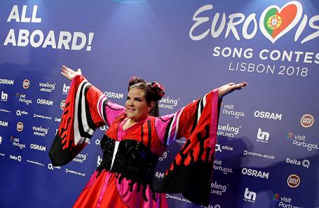Победительница конкурса «Евровидение» израильская певица Нетта Барзилай.