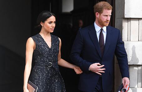 Британский принц Гарри и его невеста Меган Маркл.