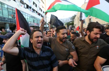 Акция протеста в связи с официальным открытием посольства США в Иерусалиме.