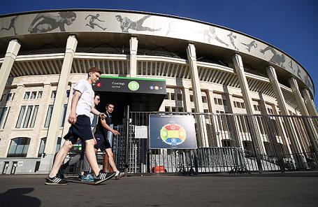 Вид на стадион «Лужники», где пройдут матчи чемпионата мира по футболу FIFA 2018.