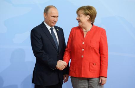 Владимир Путин и Ангела Меркель.