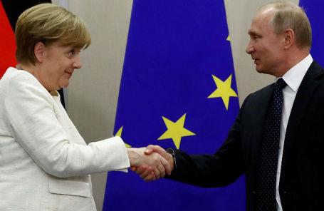 Канцлер ФРГ Ангела Меркель и президент России Владимир Путин.