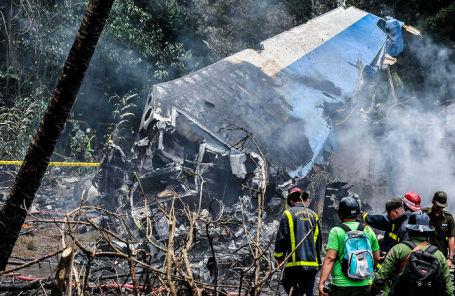 На месте крушения пассажирского самолета Cubana de Aviacion.