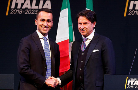 Луиджи ди Майо и Джузеппе Конте (слева направо).