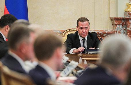 Премьер-министр РФ Дмитрий Медведев на заседании правительства РФ 22 мая 2018 года.