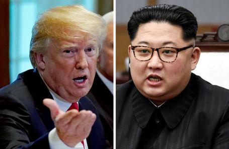 Президент США Дональд Трамп и лидер КНДР Ким Чен Ын.