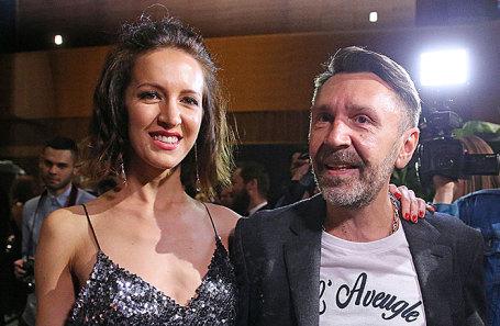 Сергей Шнуров с супругой Матильдой.