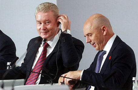 Сергей Собянин и Антон Силуанов (слева направо).