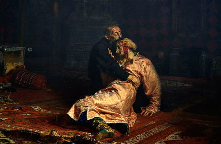 Картина Ильи Репина «Иван Грозный и сын его Иван 16 ноября 1581 года».