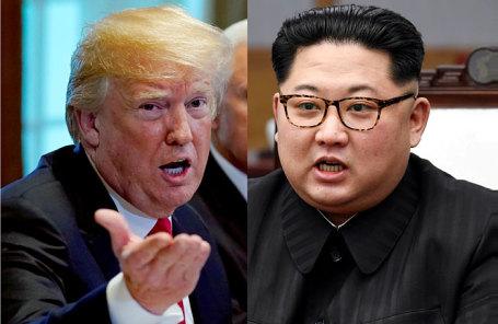 Президент США Дональд Трамп (слева) и лидер Северной Кореи Ким Чен Ын.